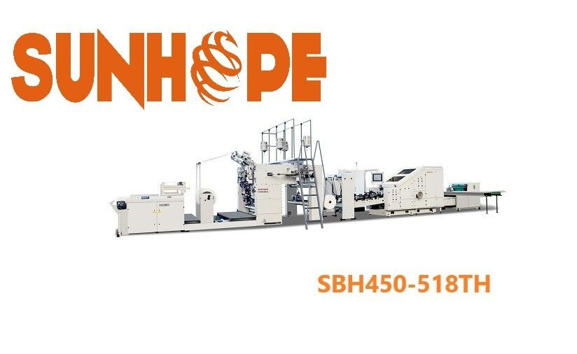 SUNHOPE 100gsm Full Servo Flat Handle Paper Bag Pasting Machine
