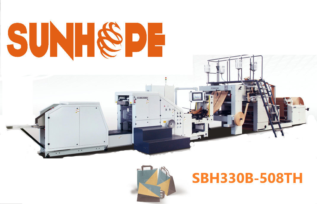SUNHOPE Block Bottom SOS Automatic Paper Bag Making Machine