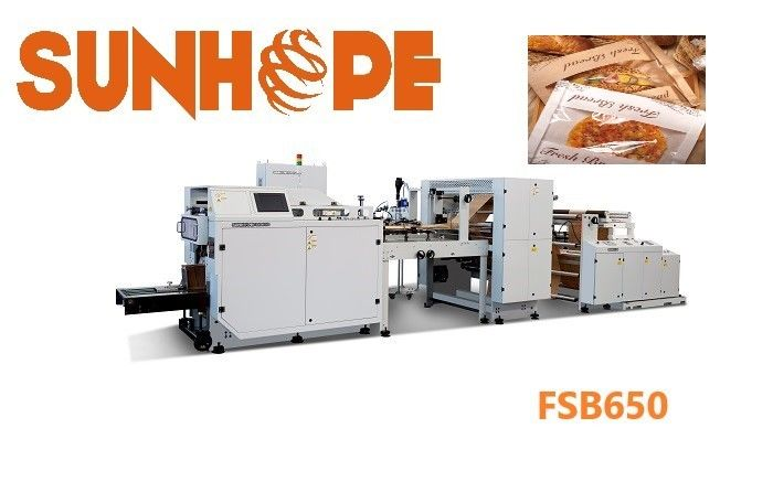 SUNHOPE 19.65kw Full Automatic High Speed Sharp Bottom Paper Pouch Making Machine